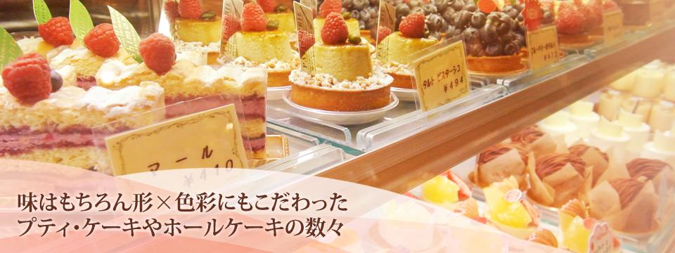 味はもちろん形×色彩にもこだわった プティ・ケーキやホールケーキの数々